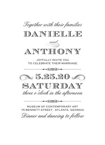 The Lovely Vintage Wedding Invitations convey your wedding details with the style of times gone by.