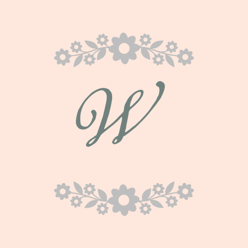 Whimsical flowers accent your monogram on the Floral Frame Foil Stickers.