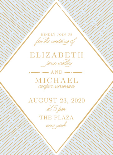 Rays emanate from the Dazzling Diamond Foil Wedding Invitations.