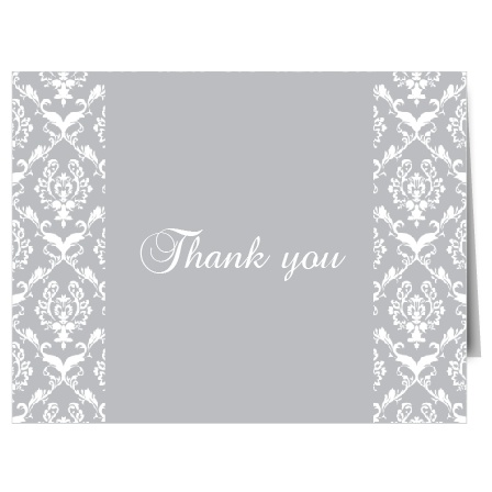 The Damask Sides thank you card is perfect for the timeless look you may be looking for!