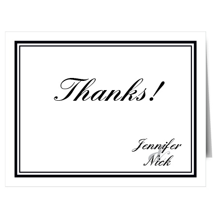 Tell your guests how much you appreciate their love and support with the Classic Sophistication thank you card.