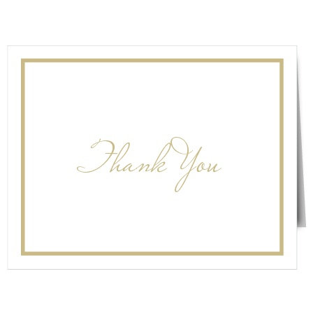 Simplicity is key when a sophisticated thank you card is your goal, and The Simple Square simple design will ensure that your appreciation makes an impact.