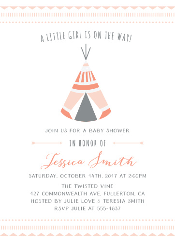 Indian Baby Shower Invitations Match Your Color Style Free
