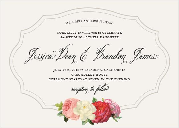 Vintage Florals Wedding Invitations