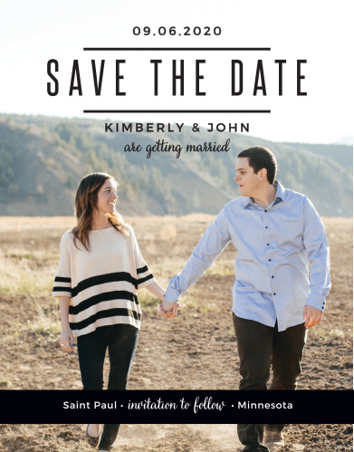 The Modern Tendencies Save-the-Date Cards are classic announcements with a fresh look.