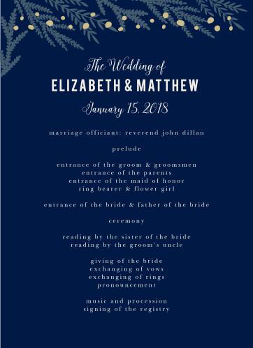 Forest Glow Wedding Programs