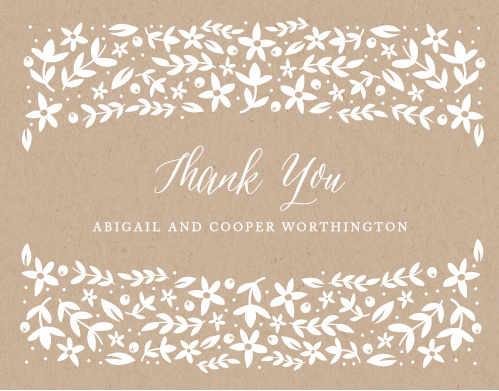 Share your gratitude with the Silent Garden Thank You Cards.