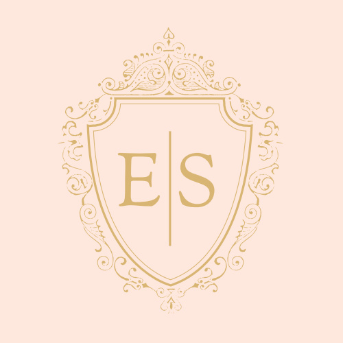 Personalize your opulent wedding stationery even more with the Scrolling Monogram Foil Stationery Stickers.