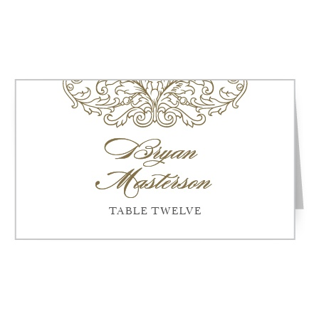 Keep your guests swooning at their tables with the Vintage Damask Place Cards.