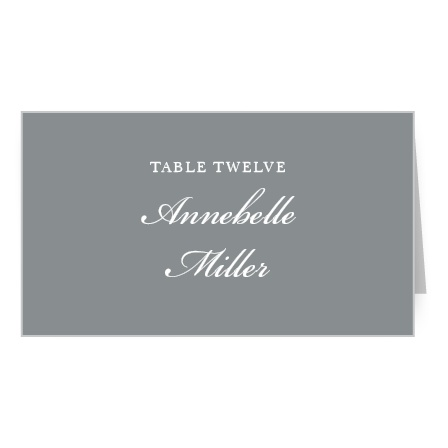 The Sophisticated Typography Place Cards simple design is the height of luxury.
