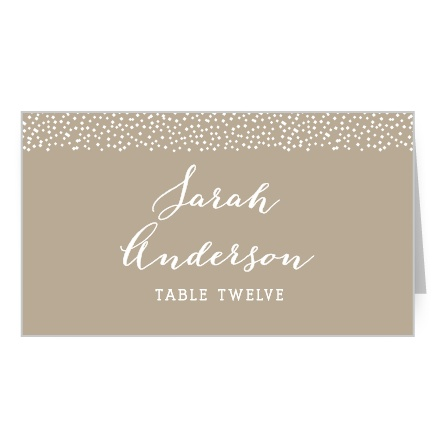 Create charming place cards with the Confetti Dots Place Cards.