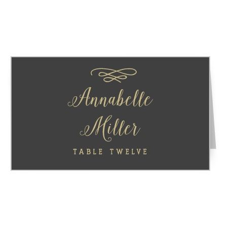 The Whimsical Calligraphy Place Cards' simple design is lovely and romantic.