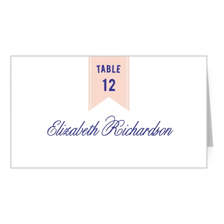 Design places cards to perfectly match your wedding stationery with the Modern Banner Place Cards.