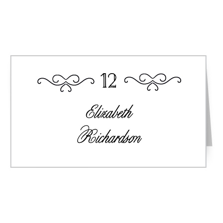 Assign guests their seats with the vintage typefaces and elegant embellishments of the Classic Penmanship Place Cards.