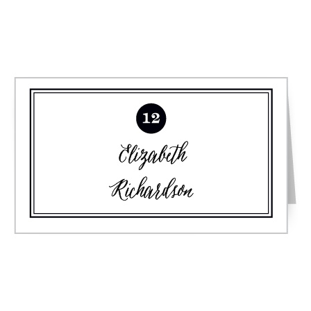 Design place cards to match your contemporary wedding theme with the Modern Elegant Place Cards.