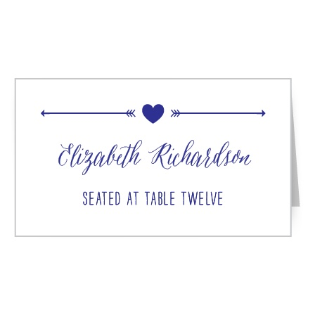 Cute arrows and a heart accent the Playful Poster Place Cards.