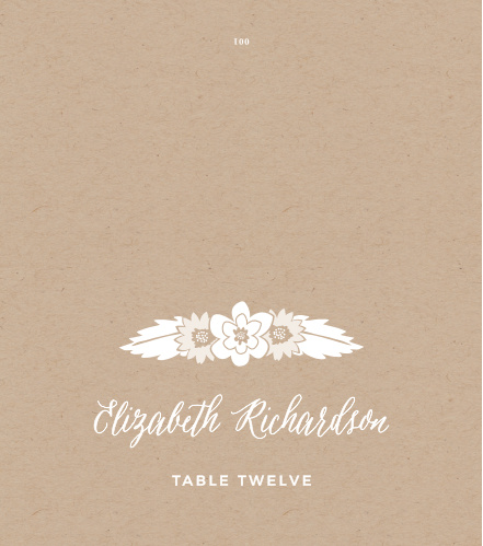 Guide guests to their assigned reception seats with the Rustic Floral Place Cards.