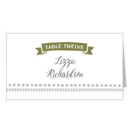 Organize your guests seating with the Rustic Tribal Place Cards.