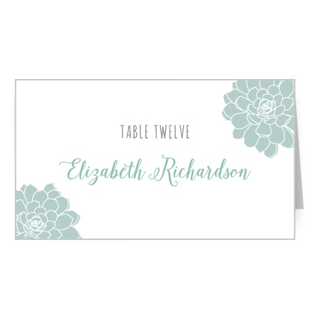 Guide guests to their assigned reception seats with the Sweet Succulents Place Cards.
