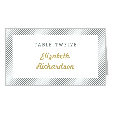 Thin stripes make a stylish border on the Snappy Slanted Border Place Cards.