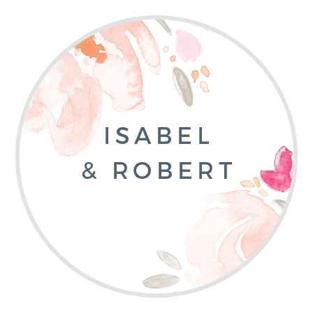 Watercolor Bouquet Stickers
