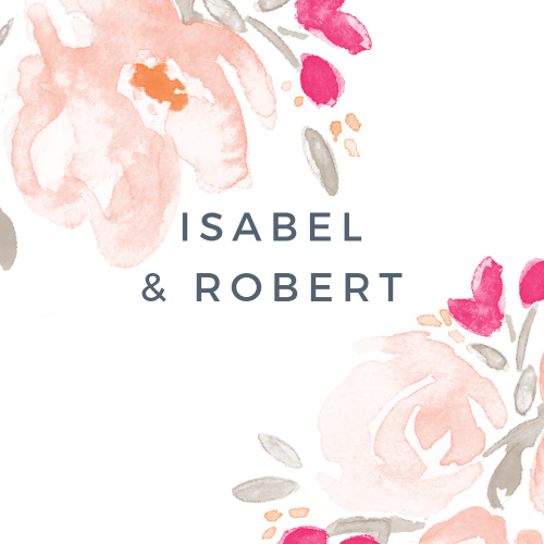 Adorn your wedding stationery with the Watercolor Bouquet Stickers.