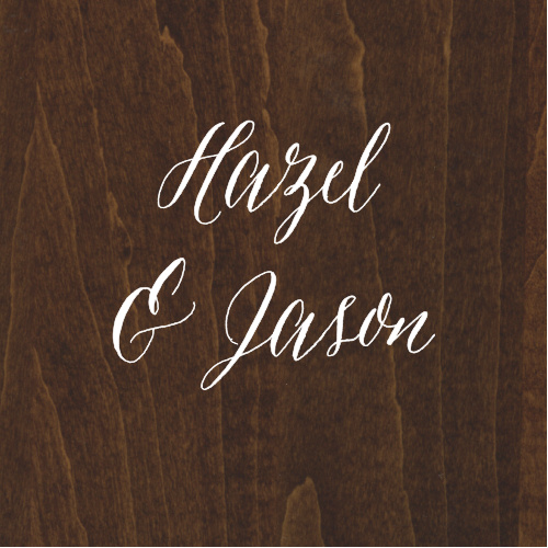 Decorate your country-themed wedding stationery with the Rustic Wood Stickers.