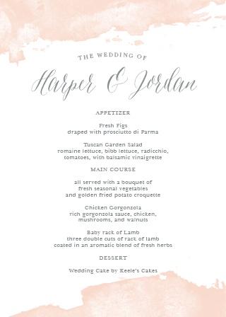 Wedding menus design your menu instantly online basic invite dip dye wedding menu junglespirit Images