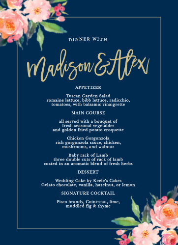 Garner a round of applause for your dinner options with the Standing Ovation Wedding Menus.