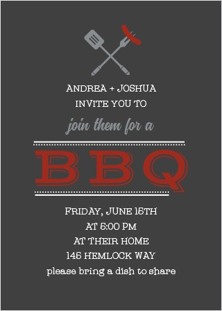 Invite friends and family for a relaxed Barbecue with the Laid-Back Cookout Party Invitations.