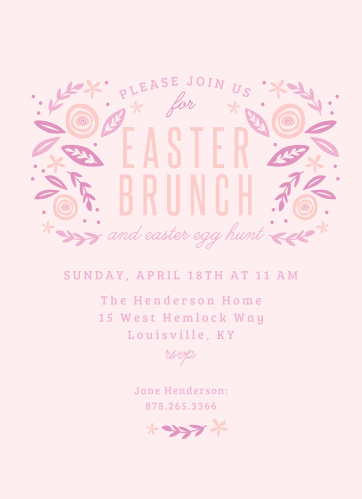 Other holiday party events easter brunch easter party invitations stopboris Gallery