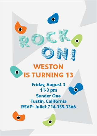 Rock climbing birthday invitations match your color style free crag climber childrens birthday party invitations filmwisefo