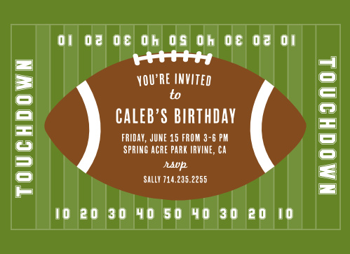 Football Birthday Invitations Match Your Color Style Free