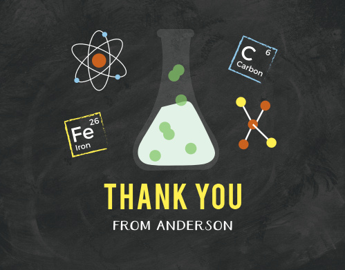 Use the Science Fair Thank You Cards to let your guests know they are as exciting as mixing sodium bicarbonate and acetic acid: an eruption of fun!