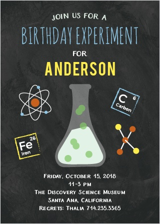 The Science Fair Party Card is as exciting as mixing sodium bicarbonate and acetic acid: it's an eruption of fun!