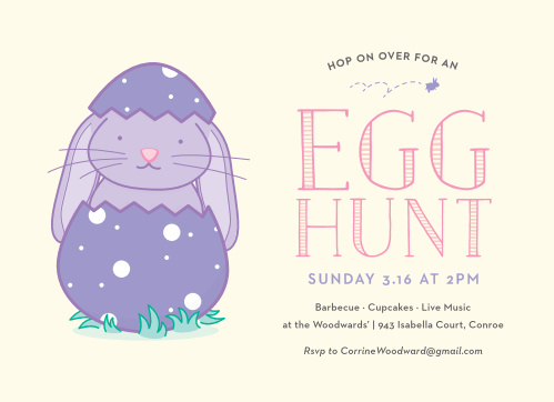 Other holiday party events easter bunny easter party invitations stopboris Gallery