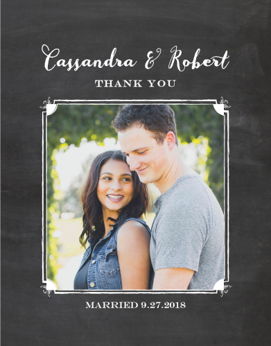 chalkboard frame wedding thank you cards - Wedding Thank You Cards
