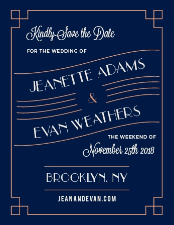 Coney Island Foil Save-the-Date Cards