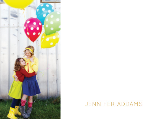 Create your professional brand using your photo on the Modern Family Foil Business Stationery.