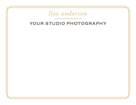 A simple foil border, adorned with your name and business title, makes for a great set of stationery!