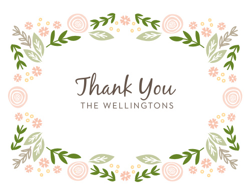 Encircle your gratitude with the charming florals of the Gardens Abound Thank You Cards.