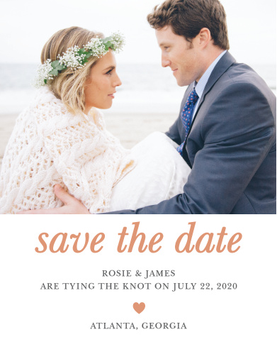 The Sophisticated Shimmer Foil Save-the-Date Magnets are a simple yet tasteful way to share your important information with your friends and family.