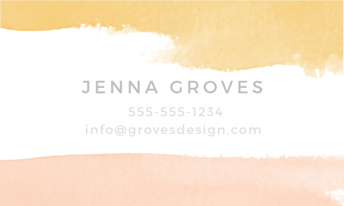 Create your artistic and professional business card with the Dip Dye Foil Business Cards.