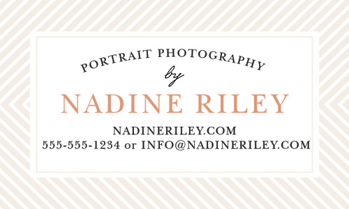 Promote your business with the Modern Stripe Foil Business Cards.