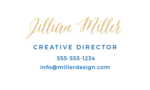 Make an impression with the Watercolor Hello Foil Business Cards.