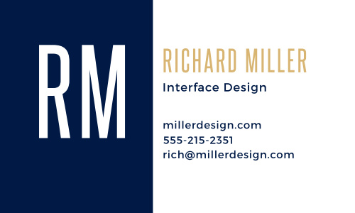 Craft your personal brand with the Bold Monogram Foil Business Cards.