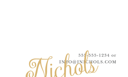 Craft your personal or corporate brand with the customizable Plain Elegance Foil Business Cards.