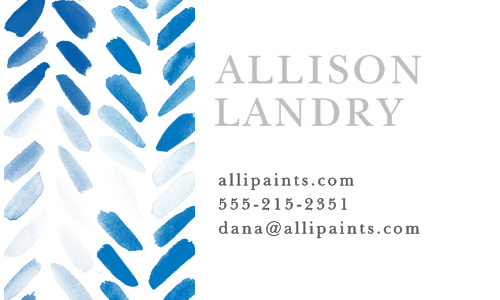 Promote your business with the artistic design of the Painted Chevron Foil Business Cards.