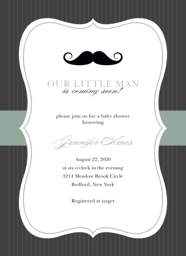 You can't go wrong with the Little Man Foil Baby Shower Invitations!