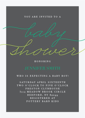 It's classy, it's elegant, it's formal... it's the Prestige Boy Baby Shower Invitations!
